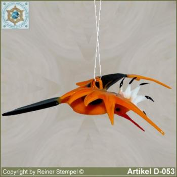 Glass animals, glass birds glass bird flying hoopoe