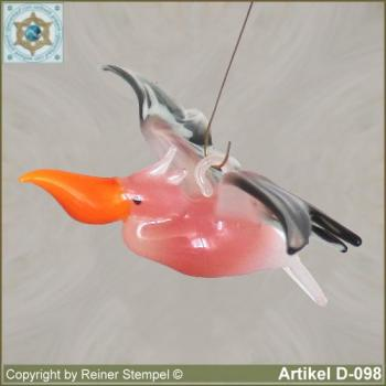 Glass animals, glass birds, glass bird Pelican flying