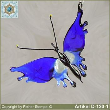 Glass animals, glass animal butterfly blue