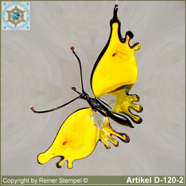 Glass animals, glass animal butterfly yellow
