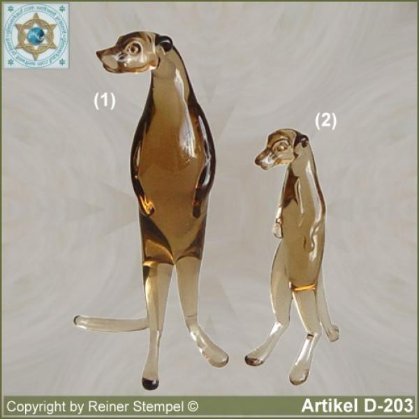 Glass animals, glass animal Meerkats amber